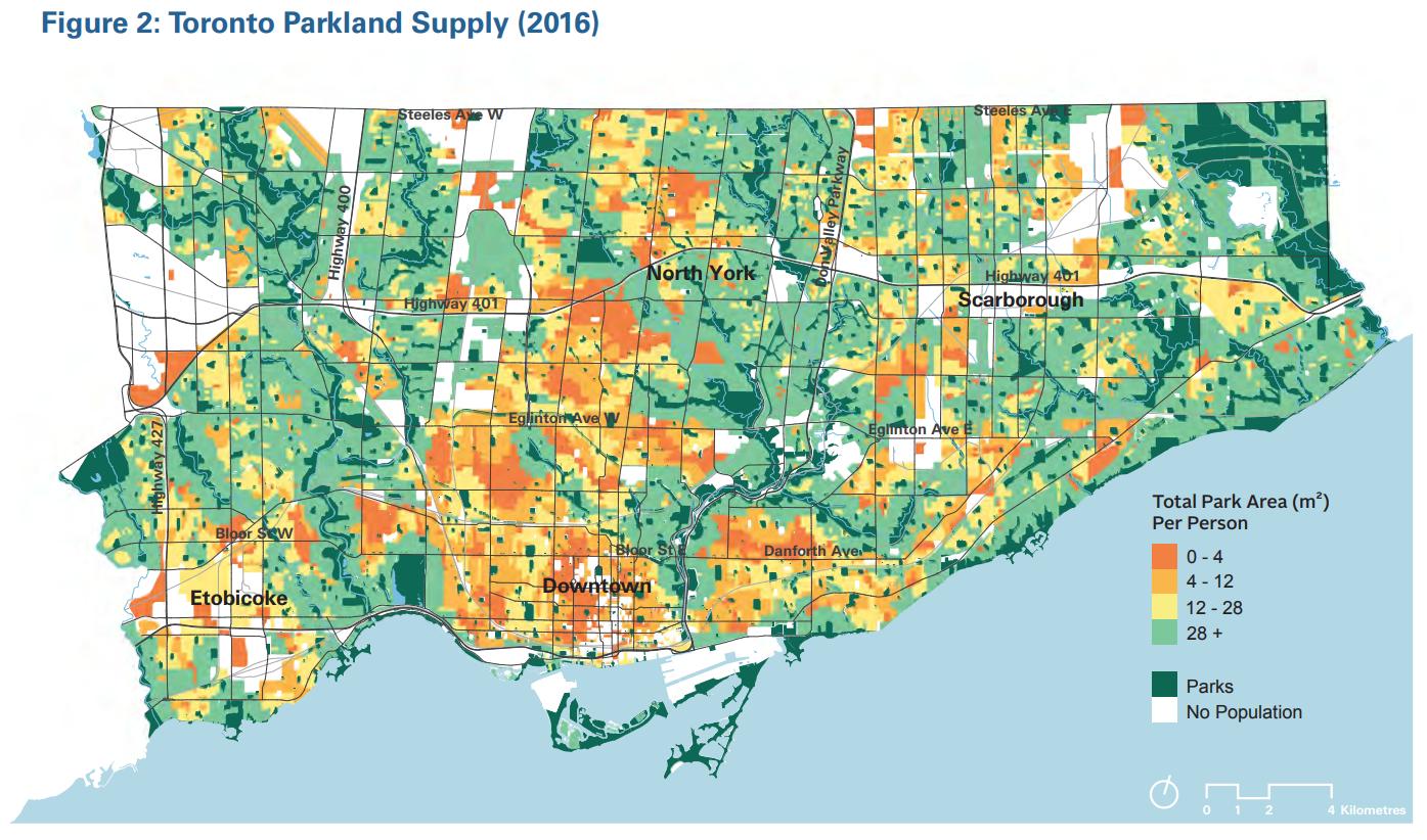 Toronto Parkland Supply