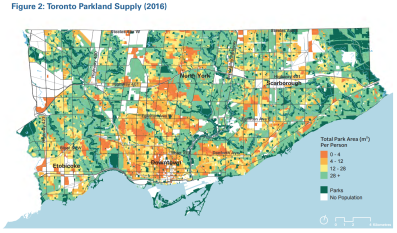 Courtesy City of Toronto: Parkland Strategy Phase 1 Report and Primer